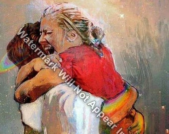 First Day In Heaven Painting - I HELD him And Would Not Let Him Go Reprint Print Picture Jesus