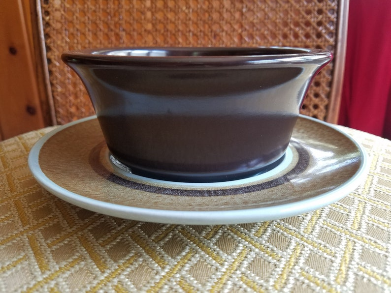 Franciscan Earthenware Nut Tree bowl with serving plate in a image 0