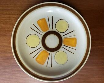 Colorstone Interplay salad plate set of 4 orange yellow brown dishware