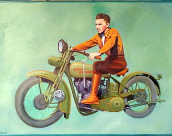 Vintage Harley Davidson Print