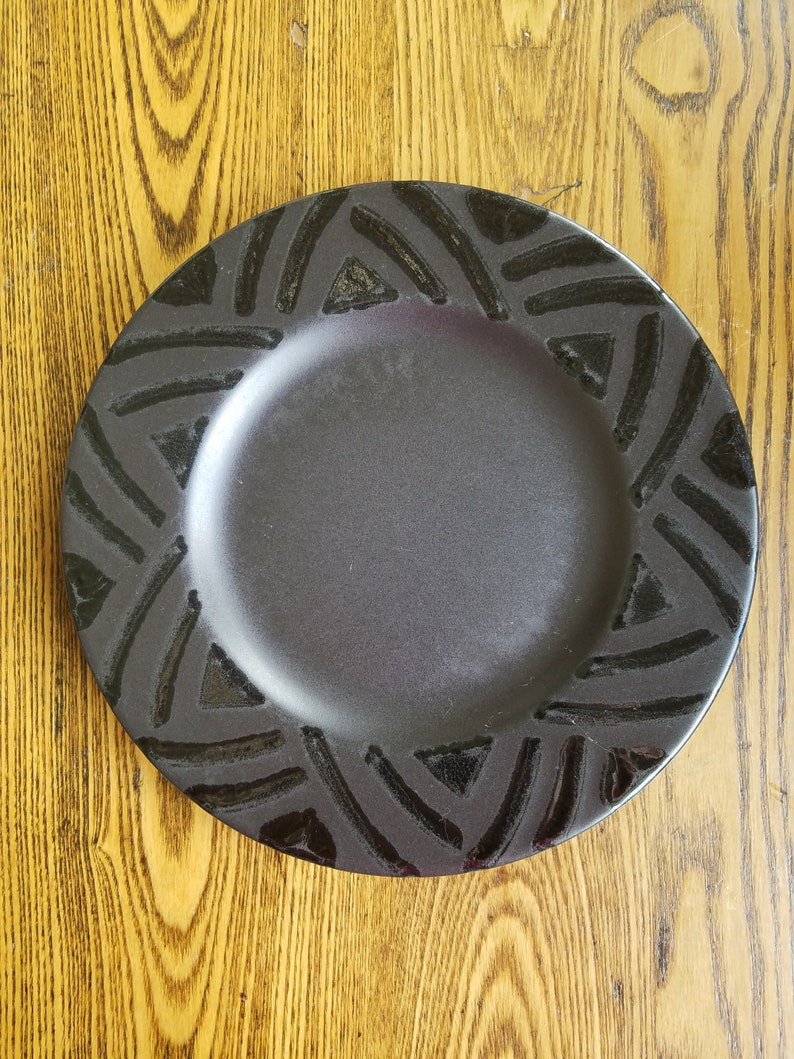 Pfaltzgraff Midnight Sun Salad or Side Plate in Matt black image 0