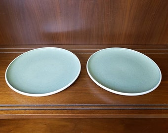 Harkerware Russell Wright chartreuse Dinner plate set of 2