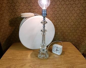 Vintage lamp clear glass mid century lighting