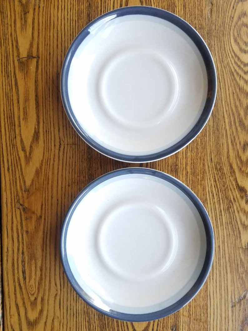 Pfaltzgraff Sky set of 2 coffee cup saucer or mug saucers with image 0