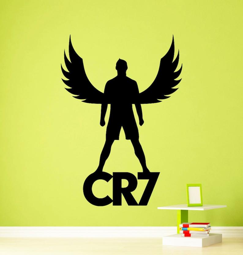 Cristiano Ronaldo Wall Winylu Naklejki Real Madryt Cr7 Etsy