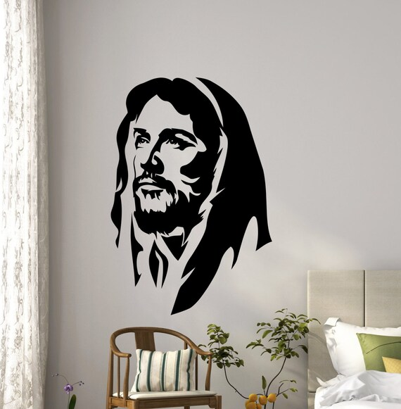 Elegant Jesus Christ Wall Vinyl Decal Religious Prayer Christian | Etsy