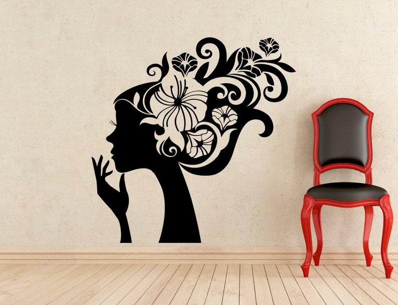 Peinado Sticker Barberia Belleza Cabello Salon Pared Vinilo Etsy