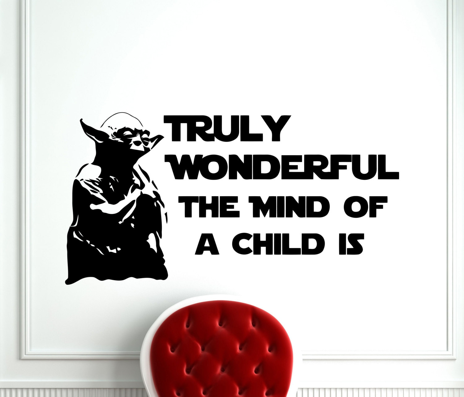 Star Wars Wall Vinyl Decal Jedi Master Yoda Quote Truly Etsy