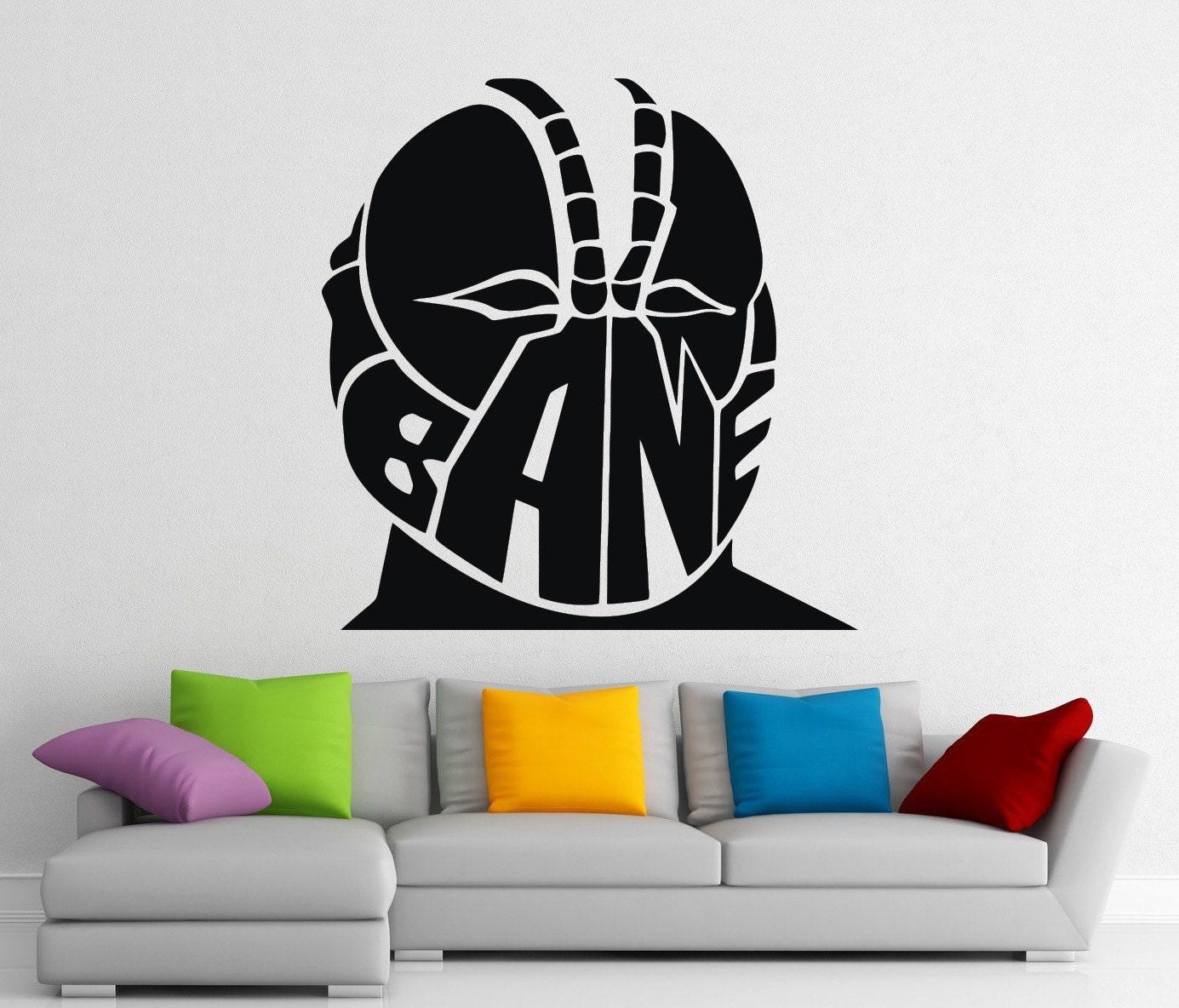 Bane Dc Comics Stickers Wall Vinyl Decals Home Interior Murals Etsy