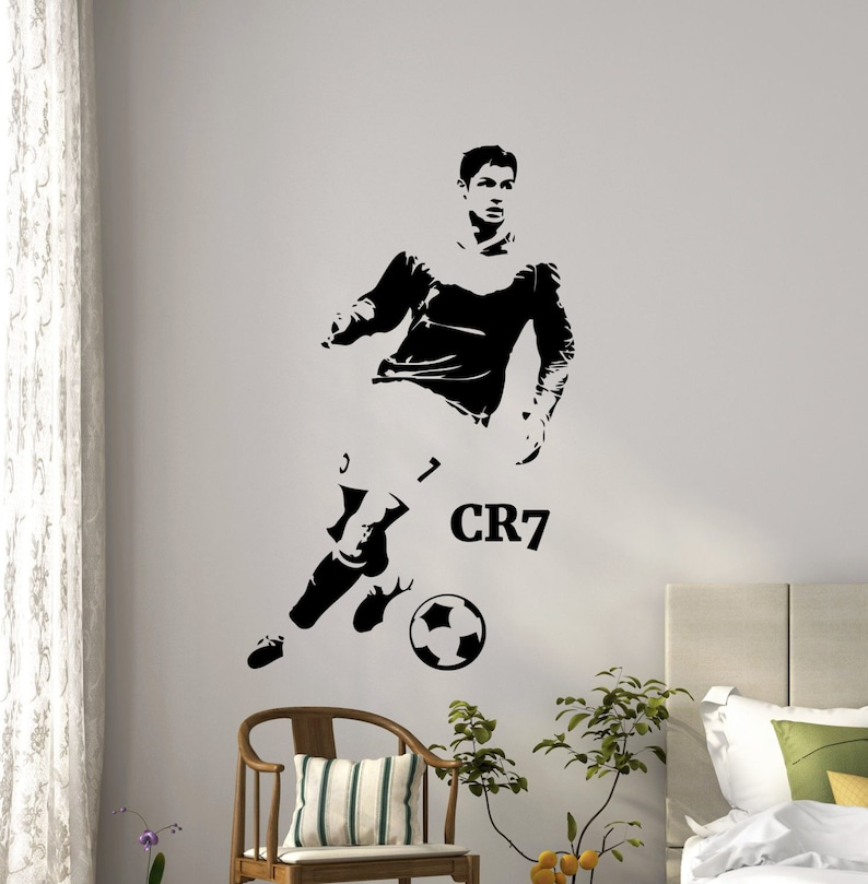 Cristiano Ronaldo Sciana Winylu Naklejki Cr7 Silownia Sport Etsy