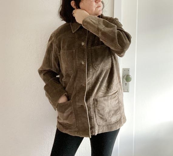 Corduroy Chore Jacket / Jones Wear Brown Corduroy