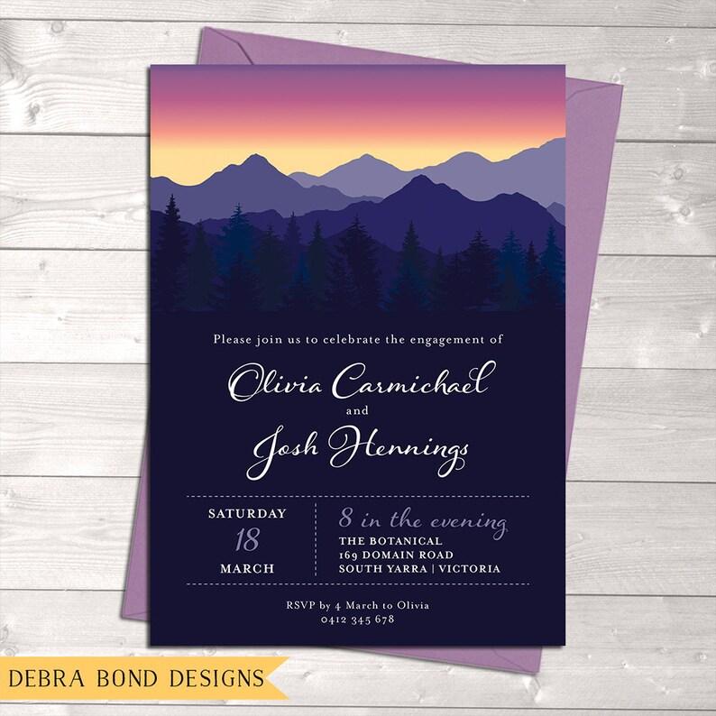 Mountain invitation engagement invitation wedding image 0