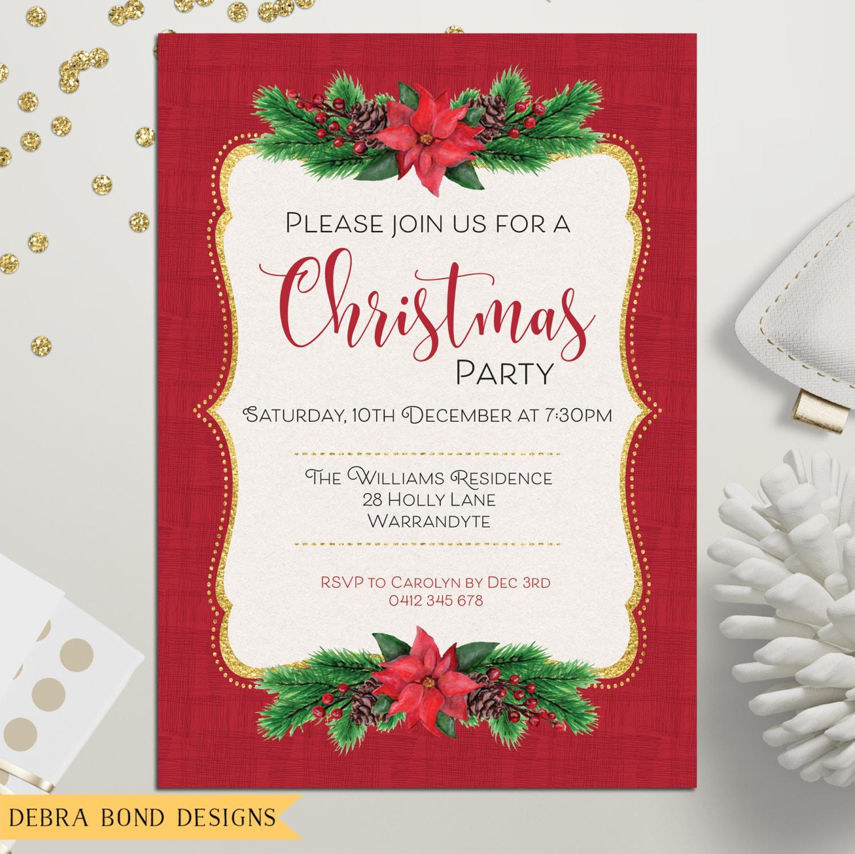 christmas invitation christmas party invitation xmas holiday card