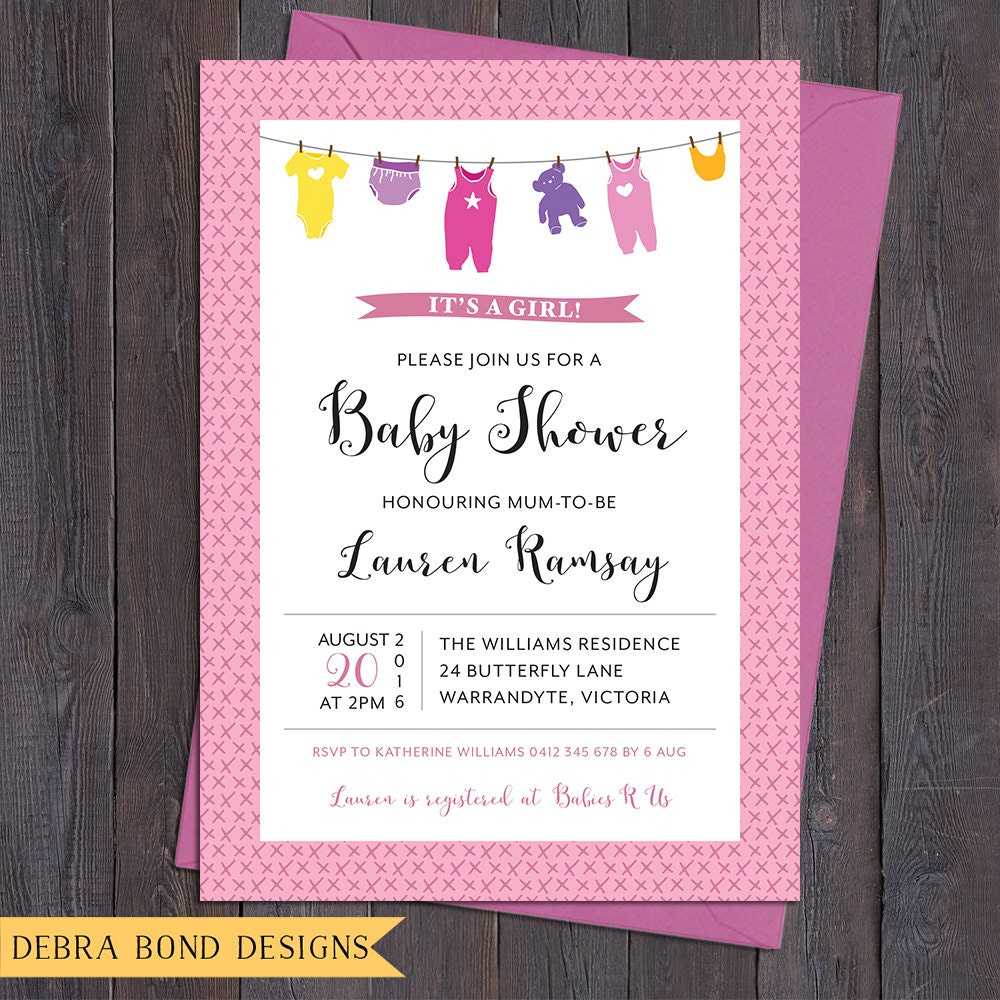 This is an image of Printable Onesie Baby Shower Invitations regarding baptismal