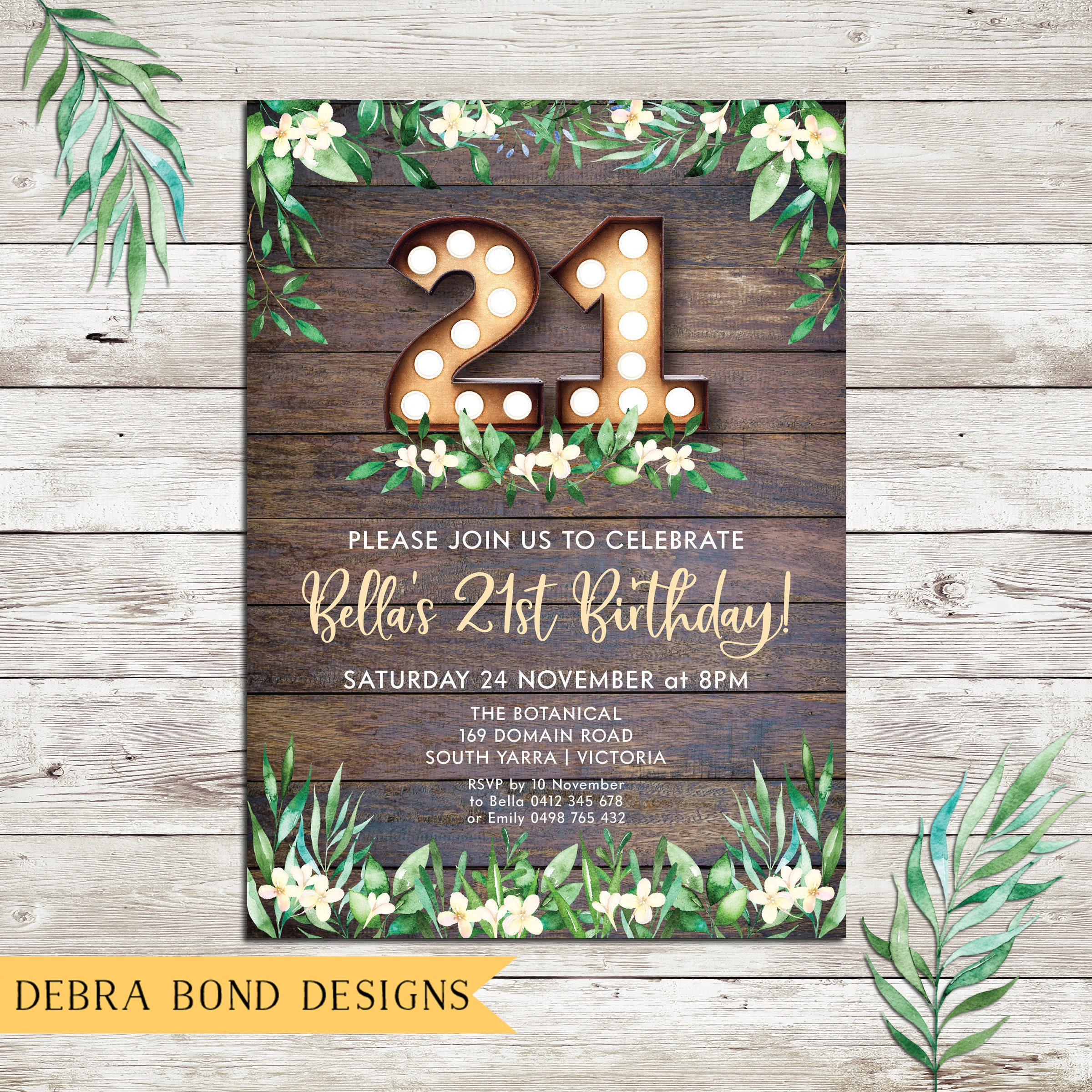 Rustic invitation birthday invitation marquee lights 18th rustic invitation birthday invitation marquee lights 18th birthday 21st birthday any age 30th 40th 50th 60th 70th digital printable filmwisefo