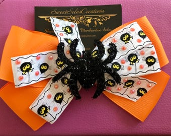 Orange Spider Bow