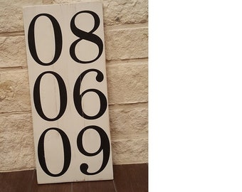 Special Date Handmade Wood Sign