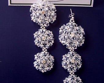 Bridal earrings, swarovski earrings, wedding earrings, handmade jewelry, chandelier earrings, wedding accessories,