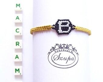 Friendship bracelet, macrame bracelet, personalized bracelet, summer bracelet, handmade initial bracelet, woven bracelet, gift for her,