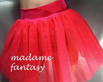 Red tutu skirt net spandex top