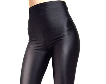 High Waisted footed spandex leggings  tights Black White Red Navy