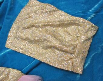 9463c07cf8b Gold sequin tube top