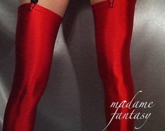 5e7860ac99d Red Shiny spandex stockings