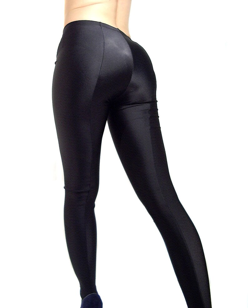 54d234b7e Black footed spandex leggings   tights