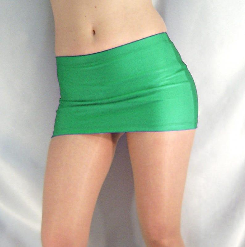 3c32f740d7e Green shiny spandex micro mini skirt | Etsy