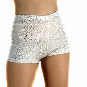 Sequin set high waisted gold sequin sequin shorts baby pink tulle ruffle tube top