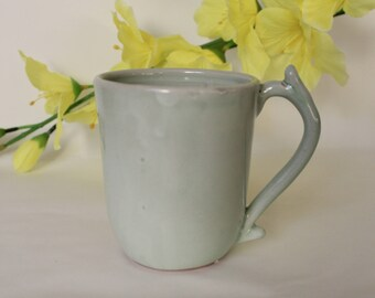 Light Green Mug, Ceramic Mug, Coffee Cup, Mug, Tea Cup, Ceramics, Wheel Thrown, Pottery, Cup, Kitchen