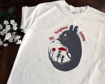 Totoro Screen Printed Shirt, My Neighbor Totoro, Totoro, Screen Printed, Shirt, Fanart, Studio Ghibli