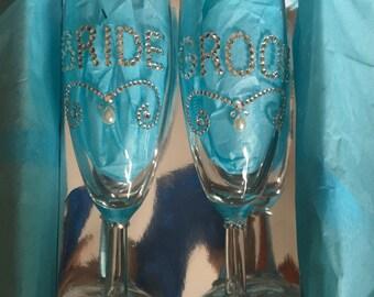 Bride & Groom Champagne Flutes