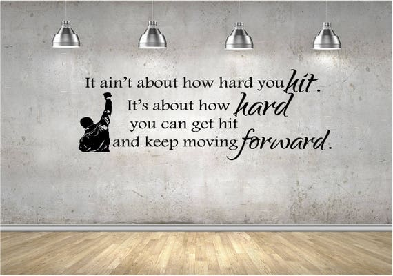 Rocky Quote Wall Decal