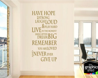 Have hope... wall quote