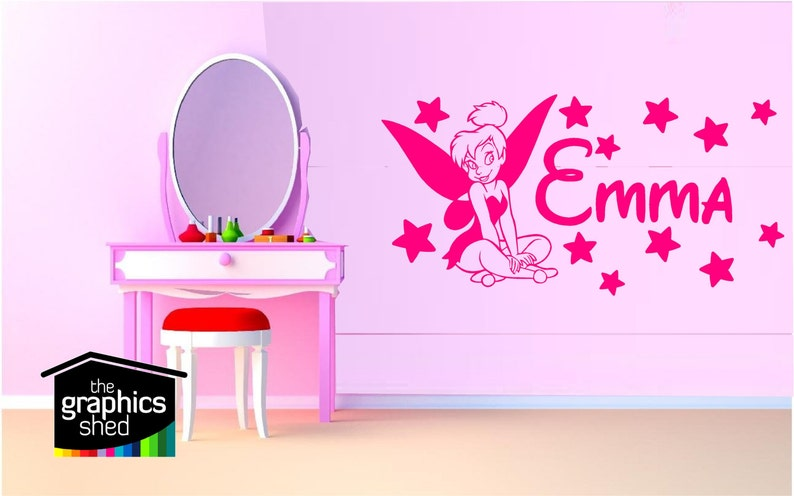 Personalised tinkerbell wall sticker