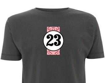 b2b8a59719e Porsche Pink Pig Men s T-Shirt 917 Lemans 24hr  23 Racing Number 23 911  Leman 24 Race