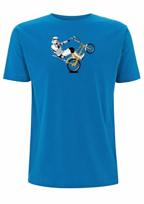 Raleigh Chopper Mk1 Stormtrooper T Shirt 1970s Bike Stunts BMX Vintage Star  Wars Trooper