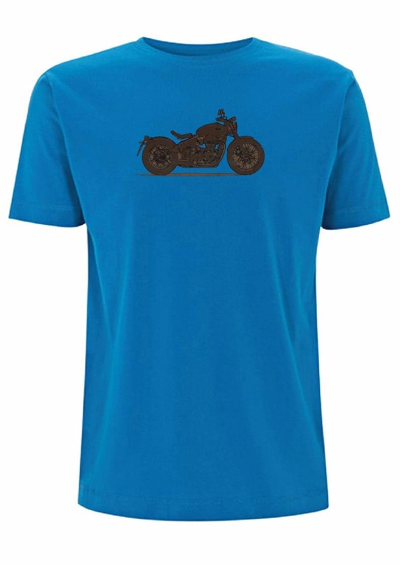Bonneville Bobber t shirt biker triumph ride cafe racer bob job low rider rivit