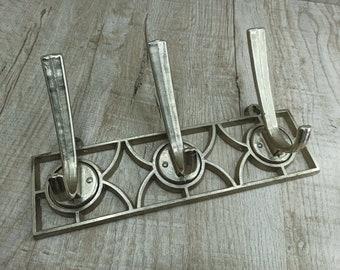 Soviet Vintage Hooks for clothing Rustic  Decor Wall Hook Towel Hook 60s Retro clothes hanger Clothing rack Old Aluminum hooks