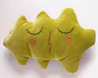 Leaf velvet cushion for woodland interior Children Cushion Kids Room Decor Vivid green pillow Decorative cushion Pillow for kids