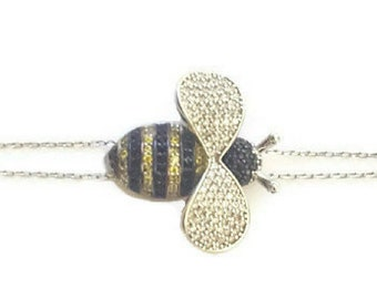 Jewelry, Bracelets, Dainty Bracelet, Delicate Bracelet, Simple Bracelet, Bumble Bee Bracelet, Bee Bracelet, Bee Jewelry, Gold Bee Bracelet,
