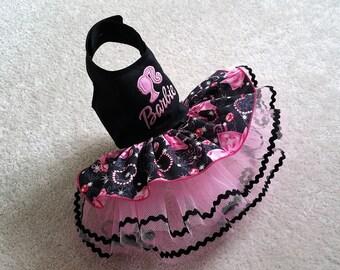 Small Dog Dress, Doll Dog Harness dress Chihuahua Dress puppy dress XS, S, M