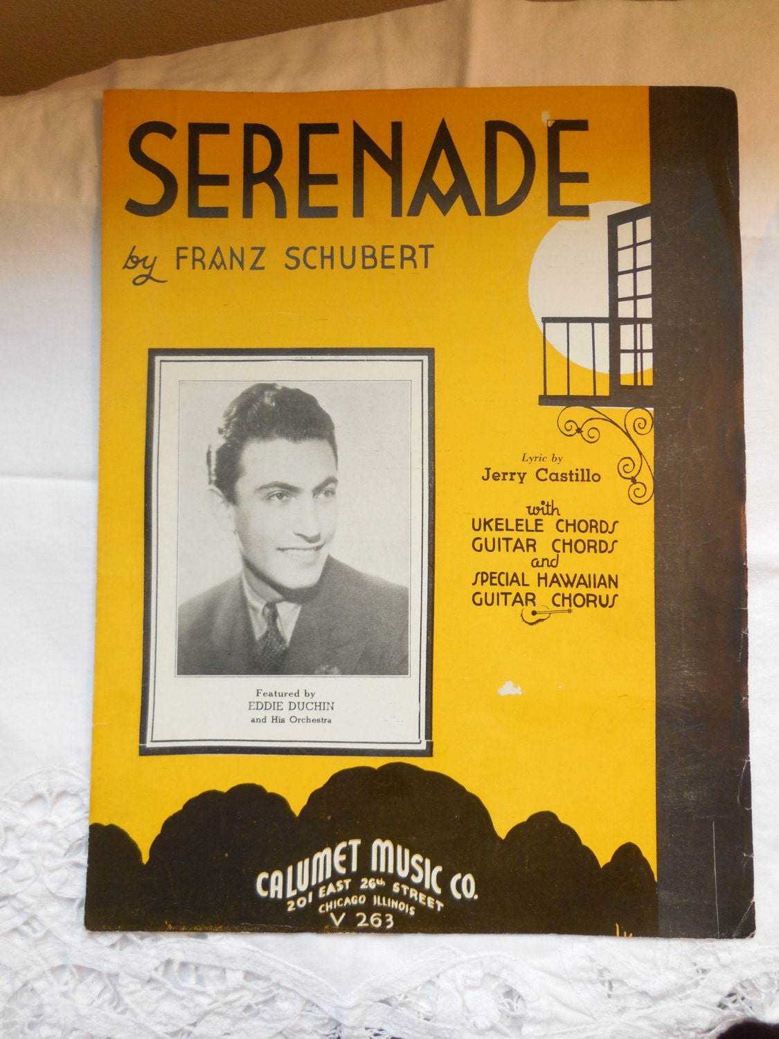 Serenade By Franz Schubert 1935 With Ukelele Chords Guitar Etsy