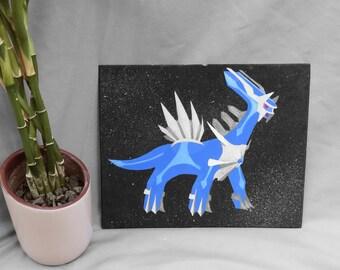 Acrylic Dialga Painting