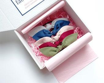 Hair Bow Gift Box. Holiday Hair Bow Box. Bow Gift Box. Hair Scarf Set. Hair Bow Set. Fall Bow Gift Box. Winter Bow Gift Box. Teen Gift Box.