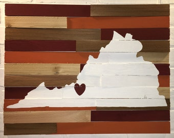Ready to Ship - College Wall Hanging - Virginia Tech
