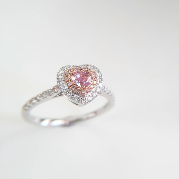 0 28 Carat Pink Diamond Engagement Ring Pink Stone Engagement Etsy