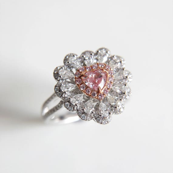 bague or diamant rose