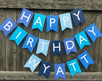 boy birthday banner etsy